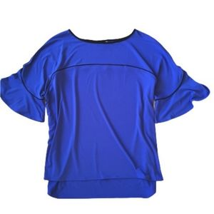 Royal Blue Top bell sleeve sz XL